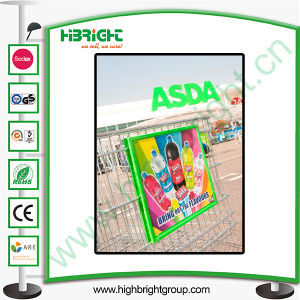 Shopping Cart Display Advertising Board with Two Dividers pictures & photos