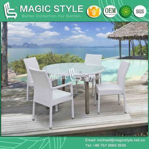 Aluminum Drawing Dining Set Rattan Dining Set (Magic Style) pictures & photos