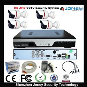 Cheap Waterproof 4CH Ahd Standalone CCTV Camera DVR Kit with Color Box 4 Rolls Cables Power Adapter pictures & photos