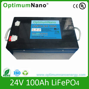 China Rechargeable 24v 100ah Lithium Battery Pack For E