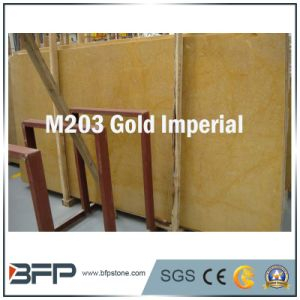 M203 Gold Imperial Natural Stone Marble Slabs/ Tiles pictures & photos