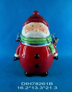 Ceramic Santa Claus Airtight Storage Canister pictures & photos