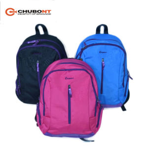 Chubont Hot Sell Fashion Backpack with Blue and Pink Color pictures & photos