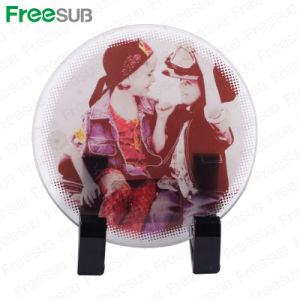 Freesub Sublimation Coated Round Glass Photo Frame (BL-17B) pictures & photos