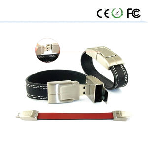 Leather Wrist Buckles USB Flash Drive pictures & photos