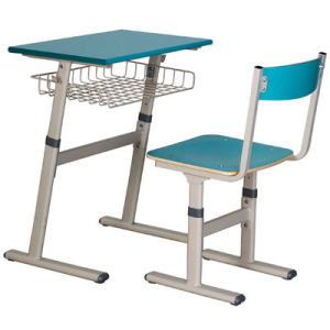 Blue Color Modern Classroom Single Desk and Chair/School Furniture (FS-3211) pictures & photos