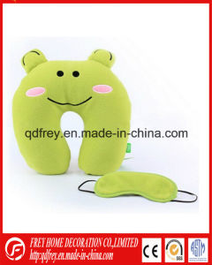 China Manufacture of Plush Frog Toy Neck Pillow pictures & photos