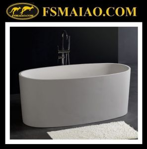 Ellipse Freestanding Bathtub in Solid Surface of White Color (BS-8610) pictures & photos
