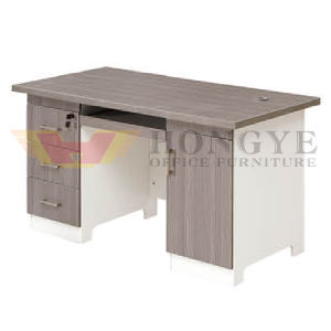 Warm White Silver Top Design of Computer Table for Office Furniture pictures & photos