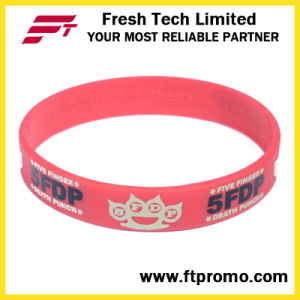 OEM Company Promotion Gift Silicone Wristband pictures & photos
