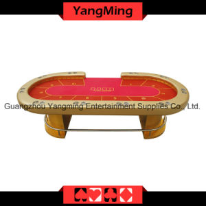 Gold LED Texas Poker Casino Table (YM-TB015) pictures & photos