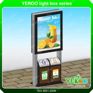 Outdoor Double Sided Advertising Light Box with Dustbin pictures & photos