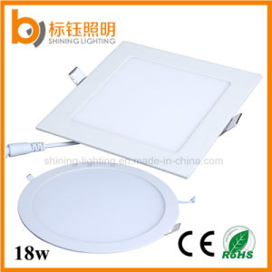 18W IP44 Bathroom Lighting LED Ceiling Panel Down Light (Square/Round 90lm/w 1620lm 2700-6500k AC85-265V) pictures & photos