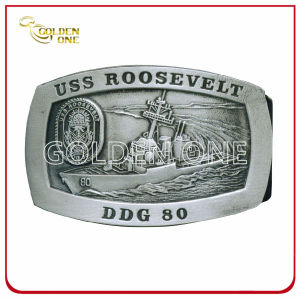 Superior Rectangle Antique Nickel Plated Metal Belt Buckle pictures & photos