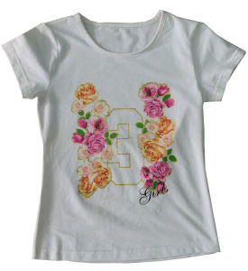 High Quality Fashion Flower Girl Kids T-Shirt Wholesale Sgt-017