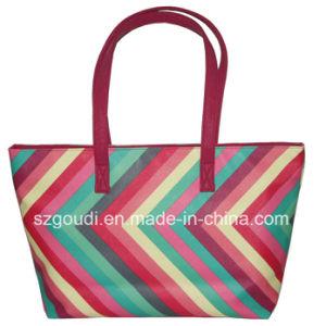 Pink PVC Waterproof Travel Beach Leisure Shopping Handbag