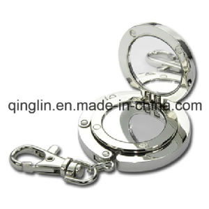 Multifunction Roungd Shape Folding Purse Hanger/Keychain with Mirror (QL-GBQ-0034) pictures & photos
