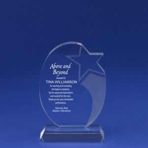Etched Round Shooting Star Crystal Trophy for Stellar Employees (#78051) pictures & photos