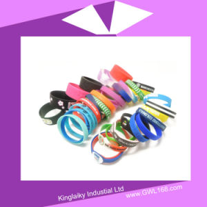 Customized Logo Silicone Bracelet pictures & photos