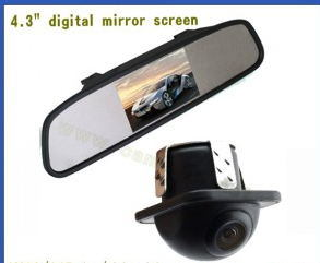 "4.3inch Car Rear View Mirror System (4.3"" mirror with digital screen +170 degree car camera)"