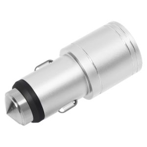 Mobile Phone Accessories Metal Safety Hammer Dual Port Car Charger pictures & photos