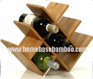 Modern Bamboo Wine Rack pictures & photos
