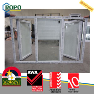 Customized UPVC Vinyl Windows with Mosquito Net pictures & photos
