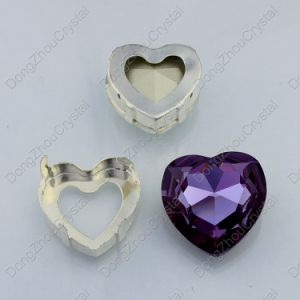 Heart Rhinestones Sew on Crystal Glass Stones with Claw Crystal Rhinestone Trimming pictures & photos