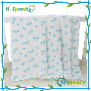 Hot Selling Organic Muslin Swaddle Blanket with Customized Print