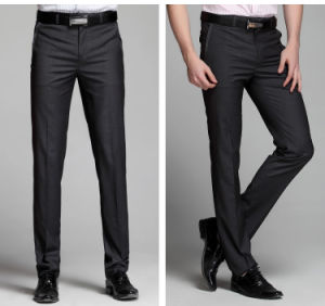 Wholesale Custom Design Non-Iron Men′s Formal Business Pants in Black pictures & photos