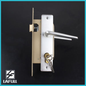 Aluminum Handle and Surface Plated Door Handle Lock pictures & photos
