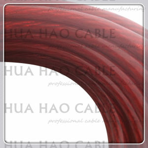 Transparent Red PVC Jacket Auto Cable pictures & photos