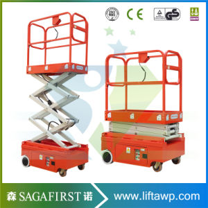3m 4m Battery Powered Mini Scissor Lift pictures & photos