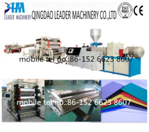 1220mm PVC Free Foam Plate/Board Extrusion Line for Advertising pictures & photos