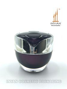 Luxury Unique 50g Cosmetic Jar Acrylic Jar Plastic Jar Cream Jar with Hand Pull Gasket pictures & photos