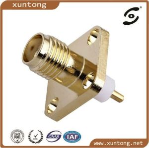 SMA Female Flange Connector for Rg174 Cable pictures & photos