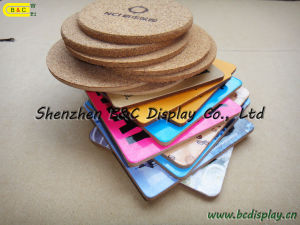 Waterproof Heat-Resistant Cork-Backed Coasters, Cork Coasters (B&C-G072) pictures & photos