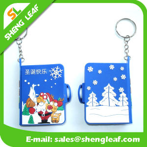Promotion Gifts OEM Logo Mini 3D PVC Keychain Notebook pictures & photos