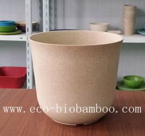 Biodegradable Bamboo Fiber Garden Flower Pot (BC-F5008) pictures & photos