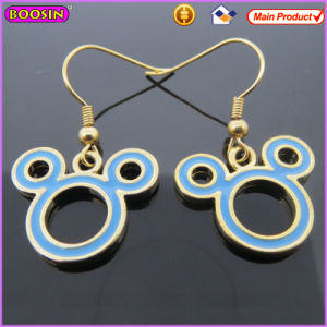Boosin Micky Mouse Shaped Enamel Metal Earrings (21132) pictures & photos