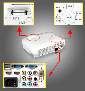Real Full HDMI 1080P Home Theatre LED Projector pictures & photos