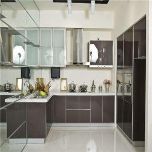 Eco-Friendly Lacquer Finish Kitchen in Black Piano Color