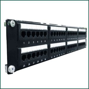 CAT6 48 Ports UTP Patch Panel Dual IDC PCB Type pictures & photos