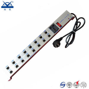 Aluminum 16 Sockets Power Network Signal RJ45 Surge Suppressor pictures & photos