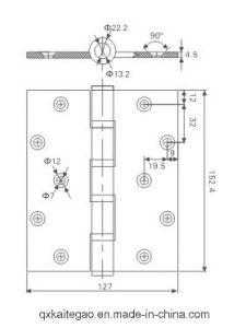 (4565-4BB) Stainless Steel Door Hinge for Wooden Door pictures & photos