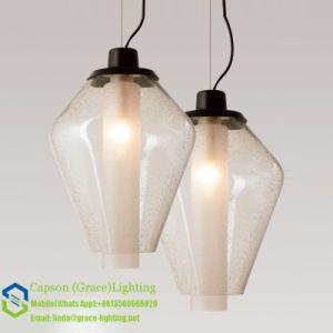 Hot Sale Bubble Glass Pendant Lamp Gd-5055-1b pictures & photos