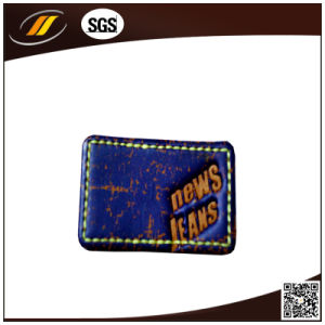 Logo Printing Leather Label for Jeans (HJL19) pictures & photos