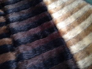 Stripe Double or Multi Color Jacquard Man Made Faux Fur pictures & photos