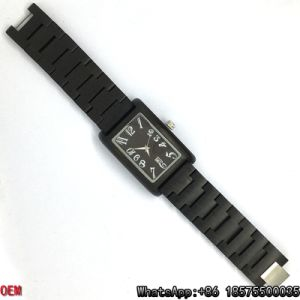 Top-Quality Ebony-Wooden Watch Rectangle Quartz Watches Hl15 pictures & photos