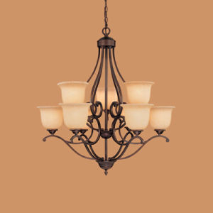 Hot Sale Chandelier with Glass Shade (1029RBZ)